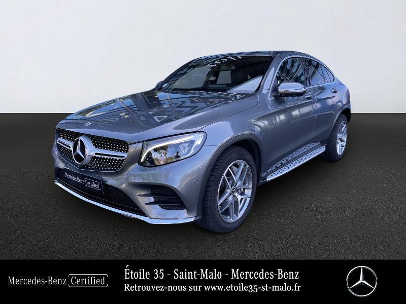 Mercedes-Benz GLC Coupe 250 d 204ch Fascination 4Matic 9G-Tronic Diesel Gris Sélénite Occasion à vendre