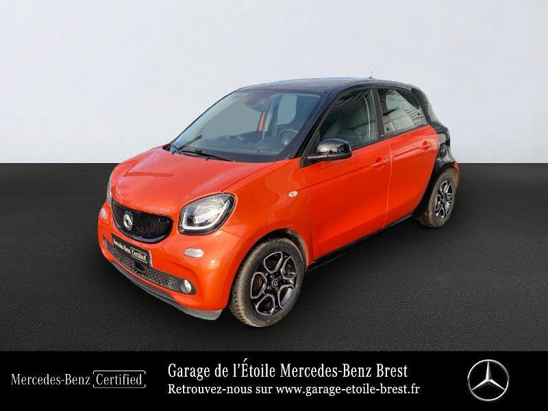 Smart Forfour Electrique 82ch prime Electrique Tridion Noir / Orange Métal Occasion à vendre