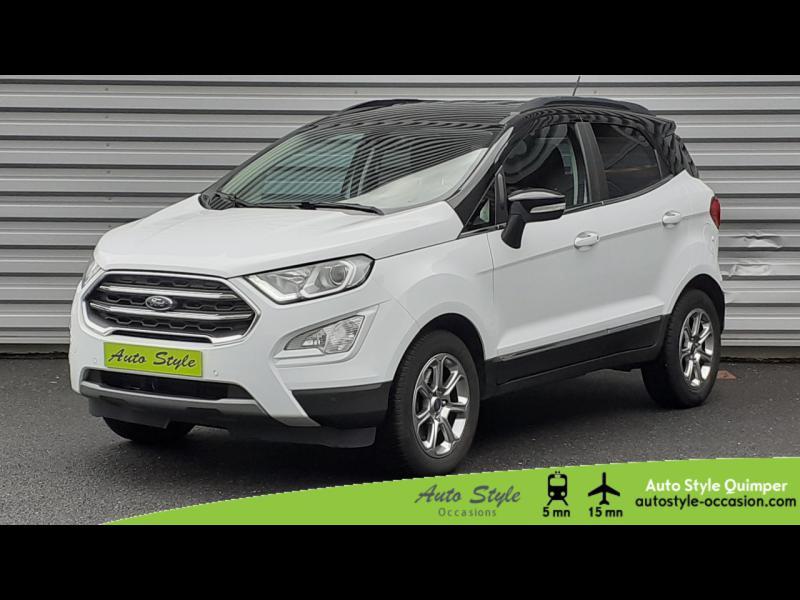 Ford EcoSport 1.0 EcoBoost 100ch Titanium Euro6.2 Essence Blanc Glacier Occasion à vendre