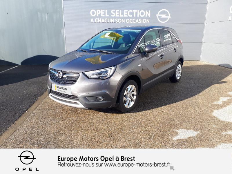 Opel Crossland X 1.2 Turbo 110ch Elegance 6cv Essence Gris Pierre de Lune Occasion à vendre