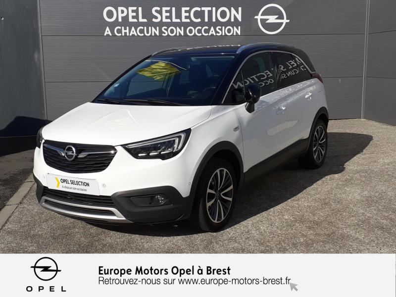 Opel Crossland X 1.6 D 120ch Ultimate Diesel Blanc Glacier/Toit Noir Profond Occasion à vendre