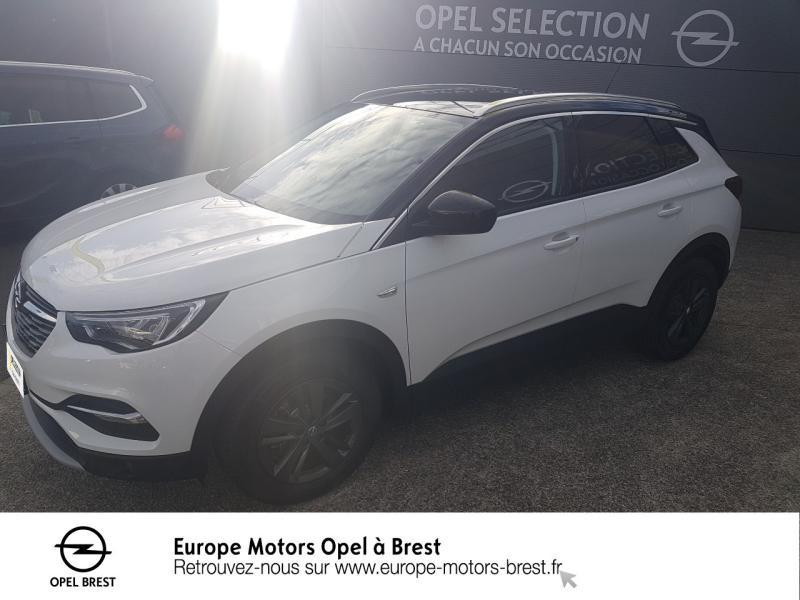 Opel Grandland X 1.2 Turbo 130ch Design & Tech Essence Toit+rétros ext noir/Blanc Jade Occasion à vendre