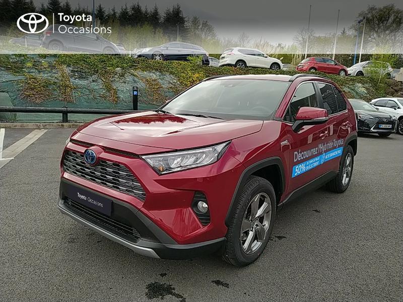 Toyota RAV4 Hybride 218ch Dynamic 2WD MY21 Hybride Rouge Occasion à vendre