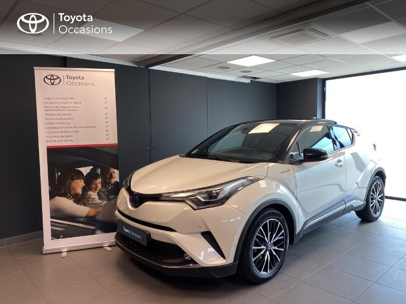 Toyota C-HR 122h Collection 2WD E-CVT RC18 Hybride blanc Occasion à vendre