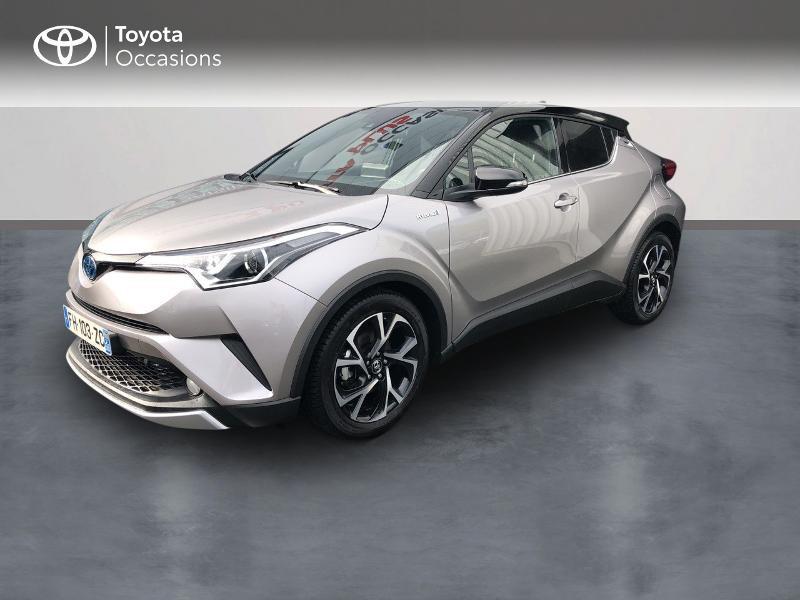 Toyota C-HR 122h Design 2WD E-CVT RC18 Hybride gris platinium Occasion à vendre