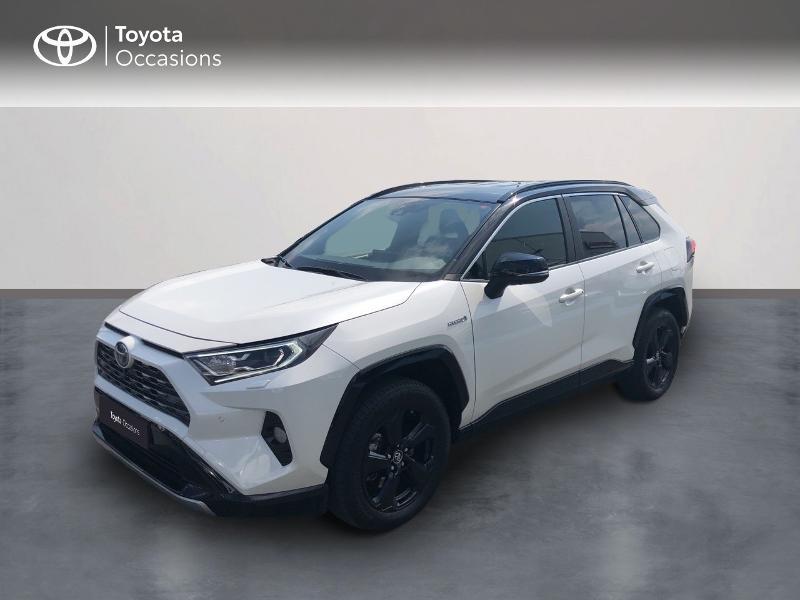 Toyota RAV4 Hybride 218ch Collection 2WD Hybride bi-ton blanc Occasion à vendre