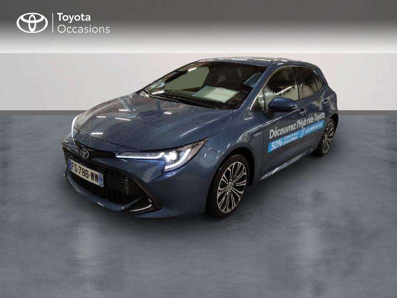Toyota Corolla 122h Design MY20 Hybride bleu denim Occasion à vendre