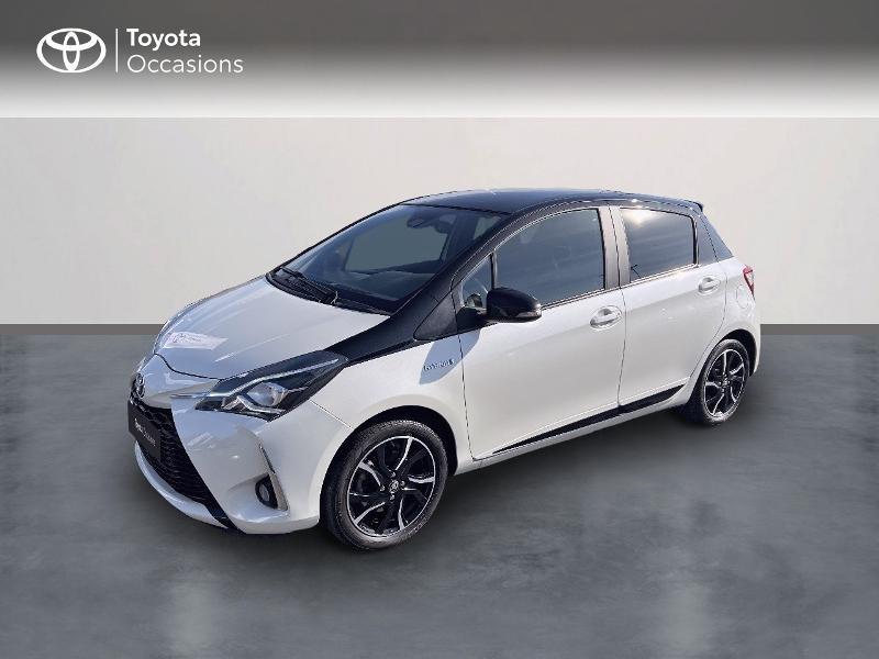 Toyota Yaris 100h Collection 5p Hybride BI-TON BLANC Occasion à vendre