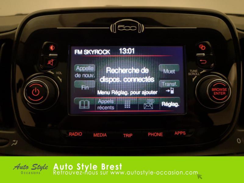 Photo 8 de l'offre de FIAT 500 1.2 8v 69ch Eco Pack Lounge à 10490€ chez Autostyle Brest