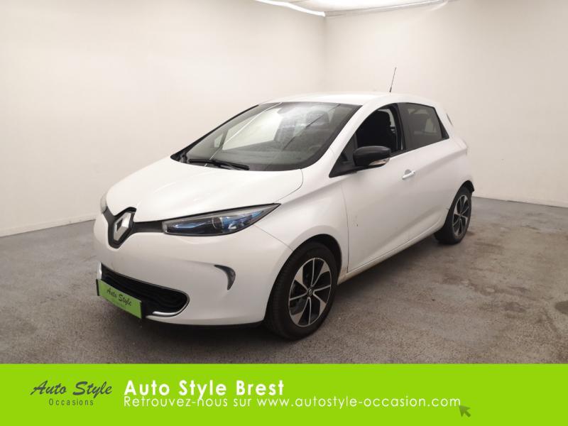 Renault Zoe Intens charge normale R90 Electrique Blanc Nacré Occasion à vendre