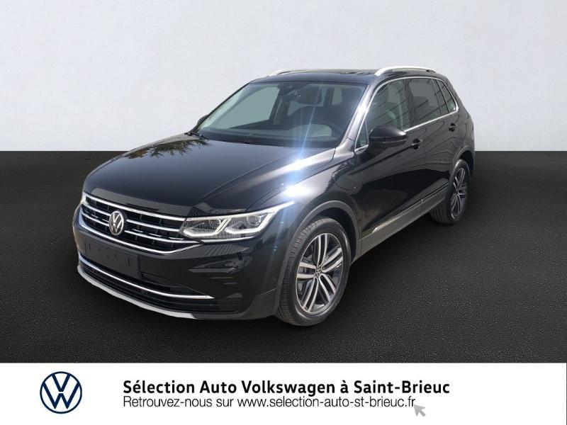 Volkswagen Tiguan 1.4 eHybrid 245ch Elegance Exclusive DSG6 Hybride NOIR INTENSE NACRE Occasion à vendre