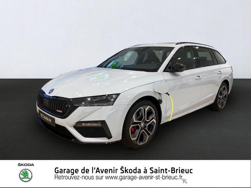 Skoda Octavia Break 1.4 TSI PHEV iV 245ch RS DSG6 Euro6d-AP Hybride BLANC LUNE Occasion à vendre