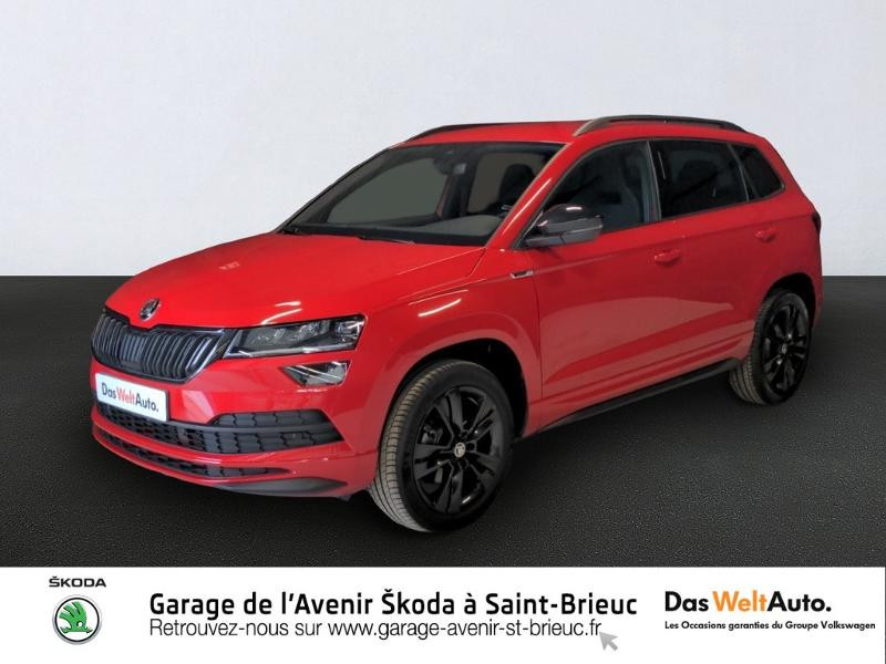 Skoda Karoq 1.5 TSI ACT 150ch Sportline DSG Euro6d-T Essence ROUGE VELVET Occasion à vendre