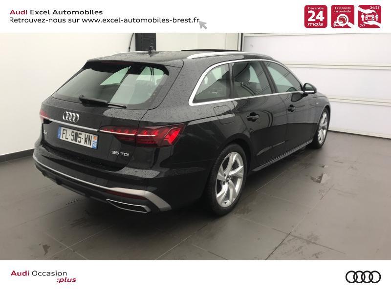 Photo 4 de l'offre de AUDI A4 Avant 35 TDI 163ch S line S tronic 7 94g à 39990€ chez Excel Automobiles – Audi Brest