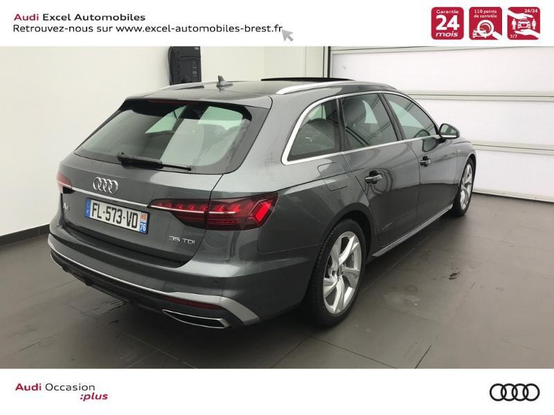 Photo 4 de l'offre de AUDI A4 Avant 35 TDI 163ch S line S tronic 7 94g à 39900€ chez Excel Automobiles – Audi Brest