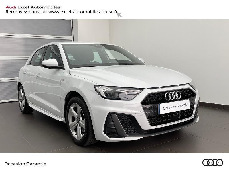 Audi A1 Sportback 30 TFSI 110ch S line S tronic 7 Essence BLANC GLACIER Occasion à vendre