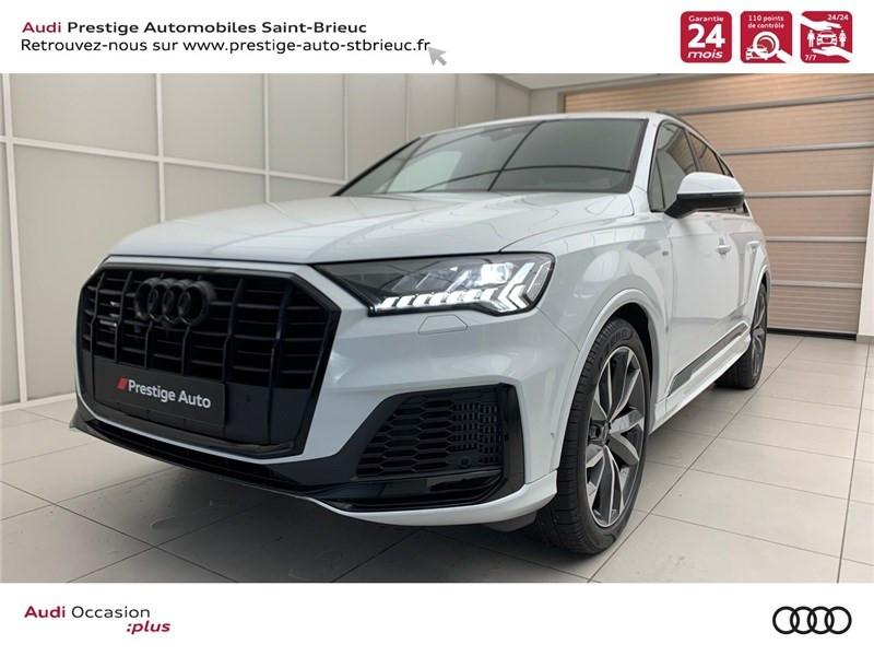Audi Q7 55 TFSI E 380 TIPTRONIC 8 QUATTRO Essence / Courant électrique Blanc Glacier Métallisé Occasion à vendre