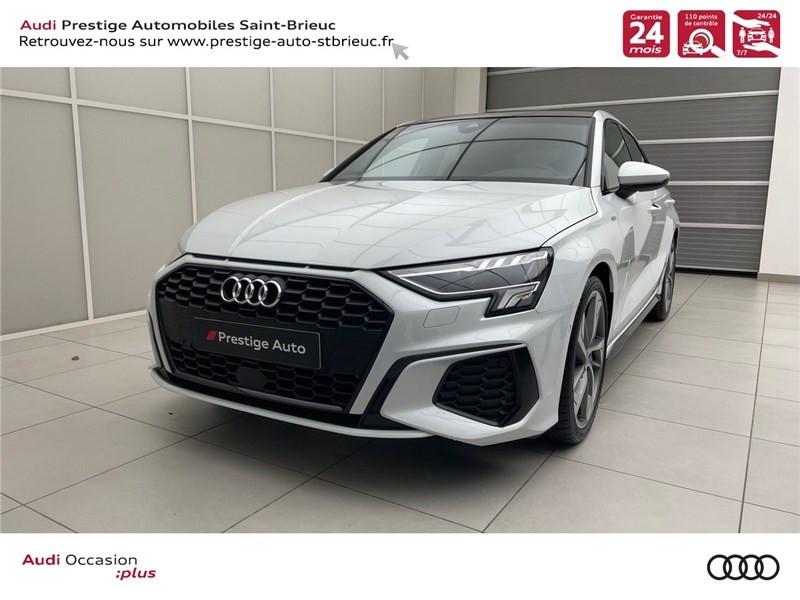 Audi A3/S3 35 TDI 150 S TRONIC 7 Diesel Blanc Glacier Métallisé Occasion à vendre