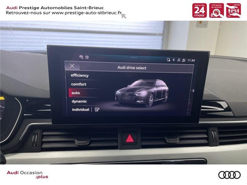 Photo 15 de l'offre de AUDI A4 35 TDI 163 S TRONIC 7 à 46900€ chez Prestige Automobiles – Audi St Brieuc