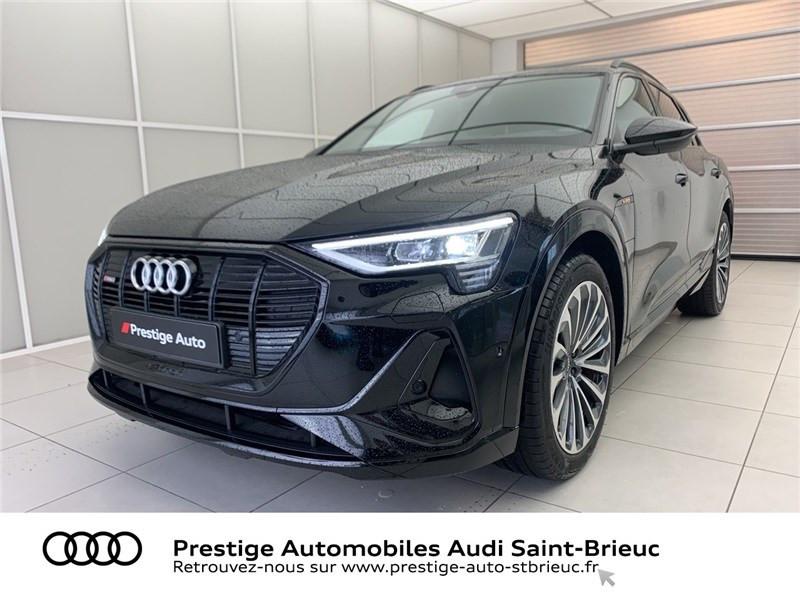 Audi E-TRON 55 QUATTRO 408 CH Courant électrique NOIR BRILLANT Occasion à vendre