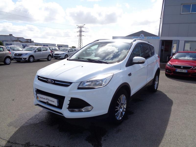 Ford KUGA 2.0 TDCI 115CH FAP TITANIUM Diesel BLANC Occasion à vendre